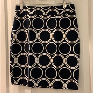 Navy BR skirt with white circles